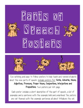 Parts of Speech Poster Display
