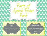 Parts of Speech Poster Pack (Grey,Teal,Yellow)