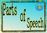 Parts of Speech Posters (Blue)