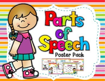 Parts of Speech Poster Set {Bright Colors}