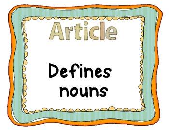 Parts of Speech Poster Set - Nouns, Verbs, Adjectives, etc