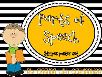Parts of Speech Poster Set (Stripes)