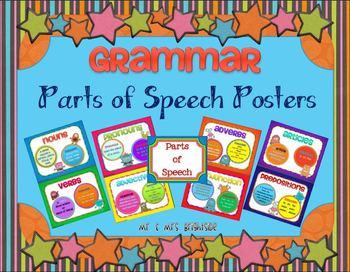 Grammar Posters (Parts of Speech)