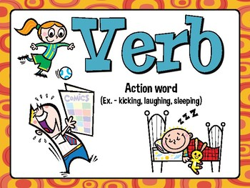 PARTS OF SPEECH Posters and Workstation Activity FREEBIE