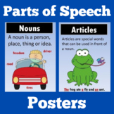 Parts of Speech Posters | Charts
