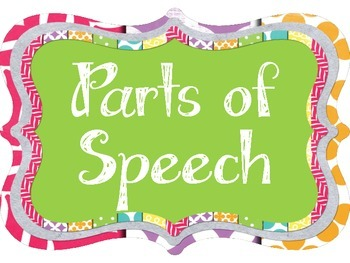 Parts of Speech Posters