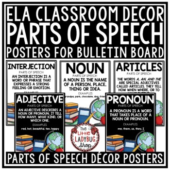 Writing Parts of Speech Posters & Anchor Charts- Grammar Posters