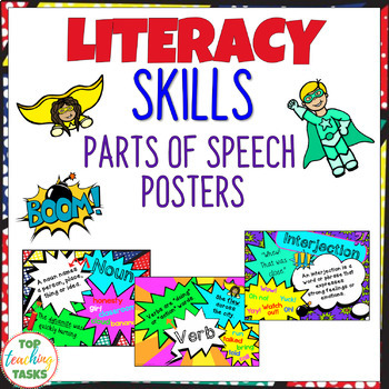 Parts of Speech Posters NZ AU UK Spelling