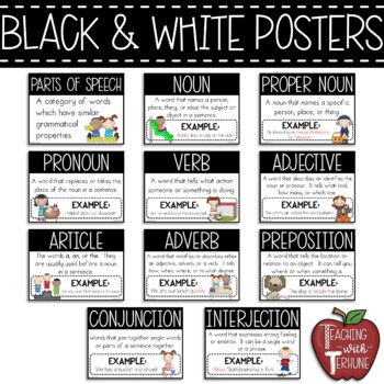 Parts Of Speech Posters Worksheets for all   Download and Share ...