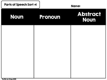 Parts of Speech Posters Activities and Flipbooks
