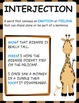 Parts of Speech Posters Animal Theme