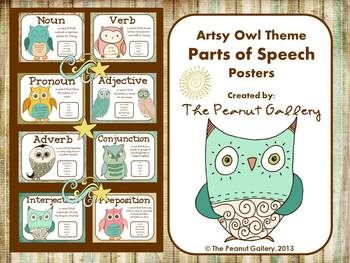 Parts of Speech Posters (Artsy Owl Theme)