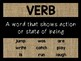 Parts of Speech Posters: Burlap & Black