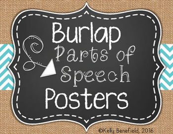 Parts of Speech Posters: Burlap Themed
