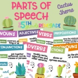 Parts of Speech Posters ~Cactus Succulent Theme~
