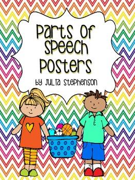 Parts of Speech Posters- Chevron Design