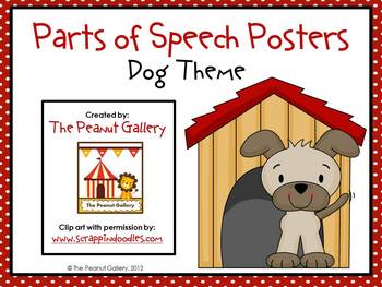 Parts of Speech Posters (Dog Theme)