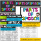 Parts of Speech Posters~ Editable Bright Colors