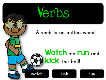 Parts of Speech Posters Free for 1st, 2nd, and 3rd grade