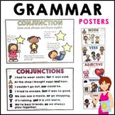 Parts of Speech Posters Grammar Adjectives Verbs Nouns and