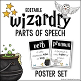 Parts of Speech Posters Wizardry Theme