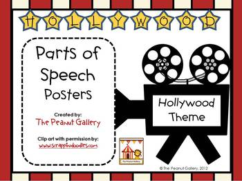 Parts of Speech Posters (Hollywood/Movie Theme)