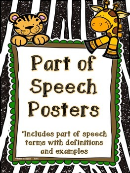 Parts of Speech Posters - Jungle Theme