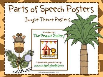 Parts of Speech Posters (Jungle/Animal/Safari Theme)