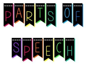 Parts of Speech Posters Modern