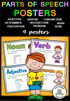 Parts of Speech (Word Classes) Posters