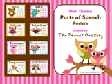Parts of Speech Posters (Owl Theme)