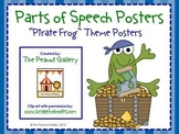 Parts of Speech Posters (Pirate Frog Theme)