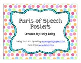 Parts of Speech Posters (Polka Dot Theme)