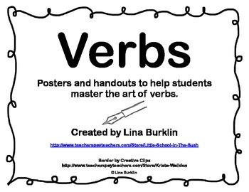 Grammar Parts of Speech Posters--Verbs
