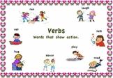Parts of Speech Posters - Verbs, Adjective, Noun and Pronoun