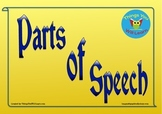 Parts of Speech Posters (Yellow)
