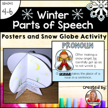 Parts of Speech Posters and Activity: Winter Theme