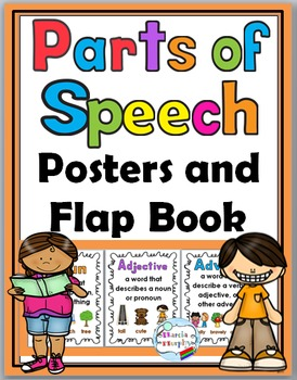 Parts of Speech Posters and Interactive Flap Book
