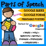 Parts of Speech Posters + Exercises | NO PREP GOOGLE SLIDES & FORMS
