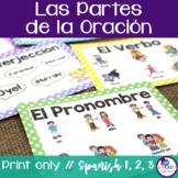 Parts of Speech Posters {in Spanish}