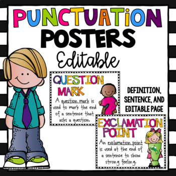 Punctuation Posters - Editable