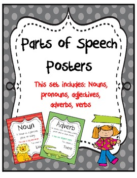 Parts of Speech Posters:Rainbow Fun