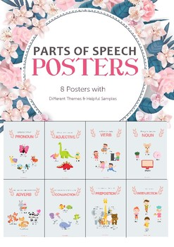 Parts of Speech Posters_Different Themes