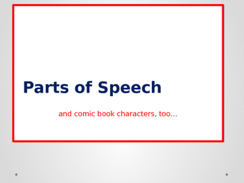Parts of Speech Power Point Presentation