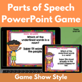 Parts of Speech PowerPoint Game: Nouns, Verbs, Adjectives, Adverbs, and Pronouns