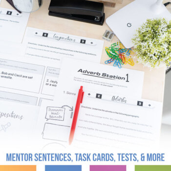 Parts of Speech Bundle: Pretest, Scaffolded Exercises, Powerpoint, and More