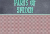 Parts of Speech Powerpoint Presentation and/or Poster Set for Middle School