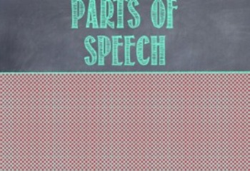 Parts of Speech Powerpoint Presentation and/or Poster Set