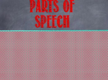 Parts of Speech Powerpoint and Poster Set *RED VERSION*