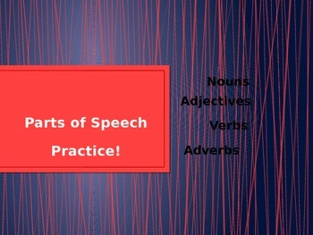 Parts of Speech Ppt Review